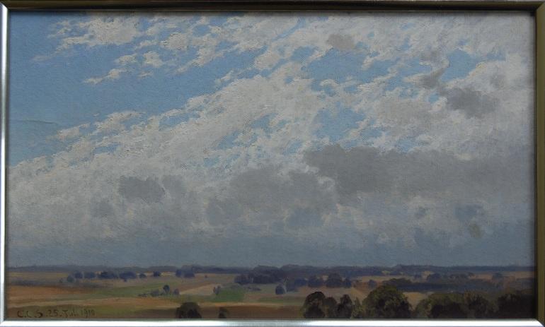 C.C.Schirm Wolkenstudie