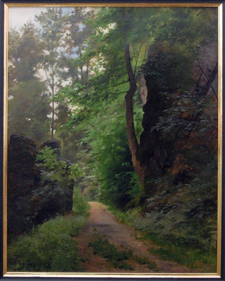 C.C.Schirm in den Badender Felsen