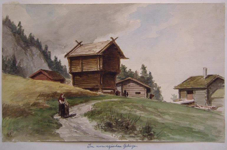 Otto Sinding im norwegischen Gebirge
