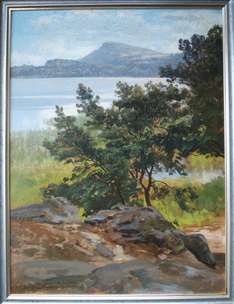 C.C.Schirm Uferpartie am Hirschberger See