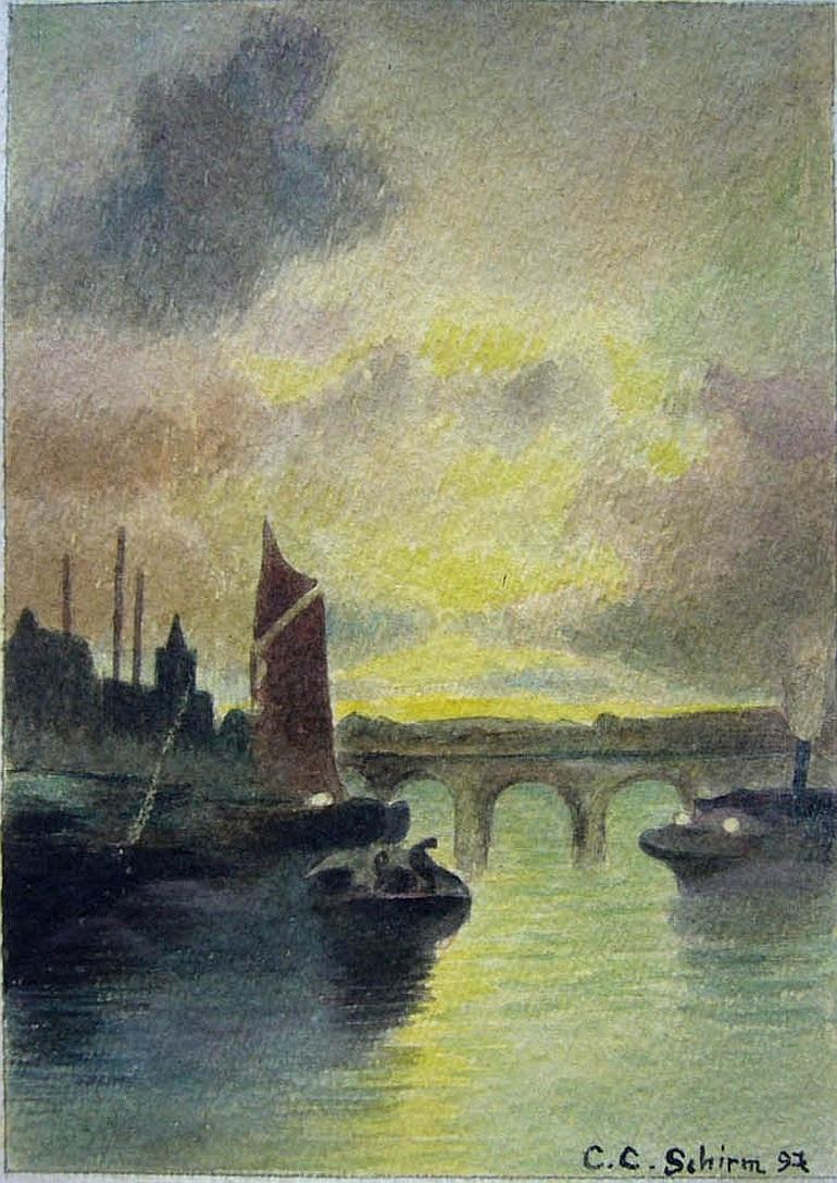 C.C.Schirm Stadt am Fluß